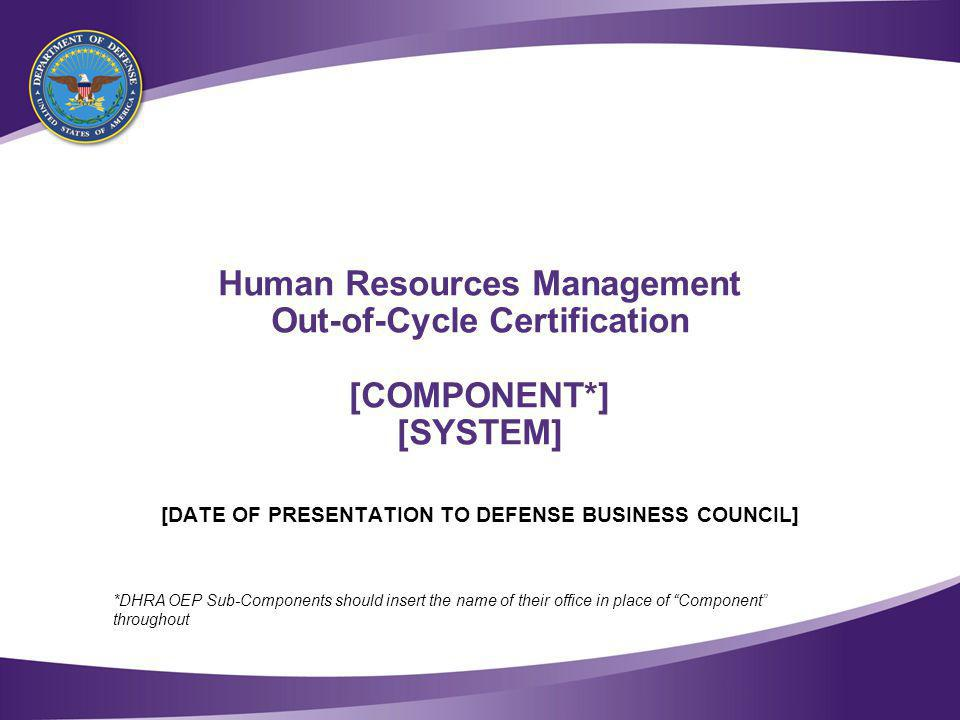 Table of Contents [COMPONENT] Human Resource Management (HRM) Portfolio Overview. Program Overview.